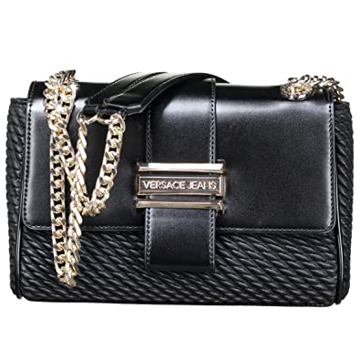 5452cb3be6 Amazon.com: Versace EE1VSBBU2 E899 Black Shoulder Bag for Womens: Shoes