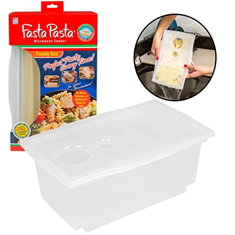 Amazon.com: Microondas Pasta cooker- el original FASTA ...
