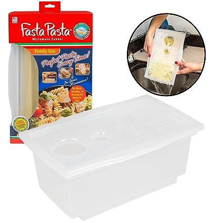 Microondas Pasta cooker- la Original Pasta Fasta familia Size ...