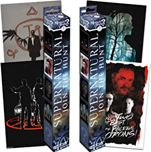 Supernatural Mystery Poster Set ~ Bundle Includes 4 Supernatural Wall Posters (Supernatural Room Decor for Kids Teens Adults)