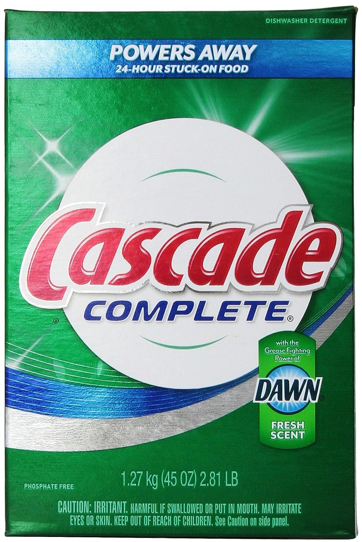 Cascada completo, polvo lavavajillas detergente, aroma fresco 45 ...
