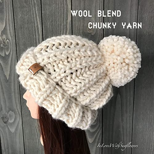 75d63116f543 Chunky Yarn Knit Hat - Olympic Style Beanie ... - Amazon.com