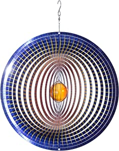 VP Home Kinetic 3D Metal Outdoor Garden Decor Wind Spinner (Sunburst)