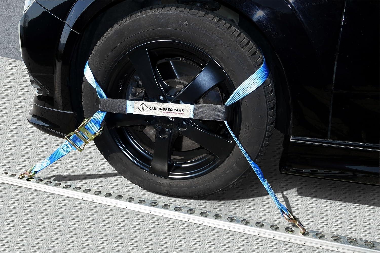 4 x Sangle pour transport de voitures en 3 parties 2,3 m à/de jeu de 4 amortisseurs de cargo-drechsler