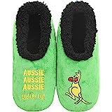 Slumbies! Boxing Kangaroo Mens Slippers - Soft Slippers for Men - Indoor House Slippers for Men - Comfortable Mens House…
