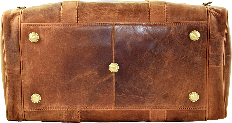 deltabraun Weekender Sac daffaires MENZO Accessoires en Cuir /«/Cape Town//» Vintage Buffalo Bagage Sac de Voyage en Cuir Sac de Voyage Sac /à bandouli/ère Sac de Loisirs