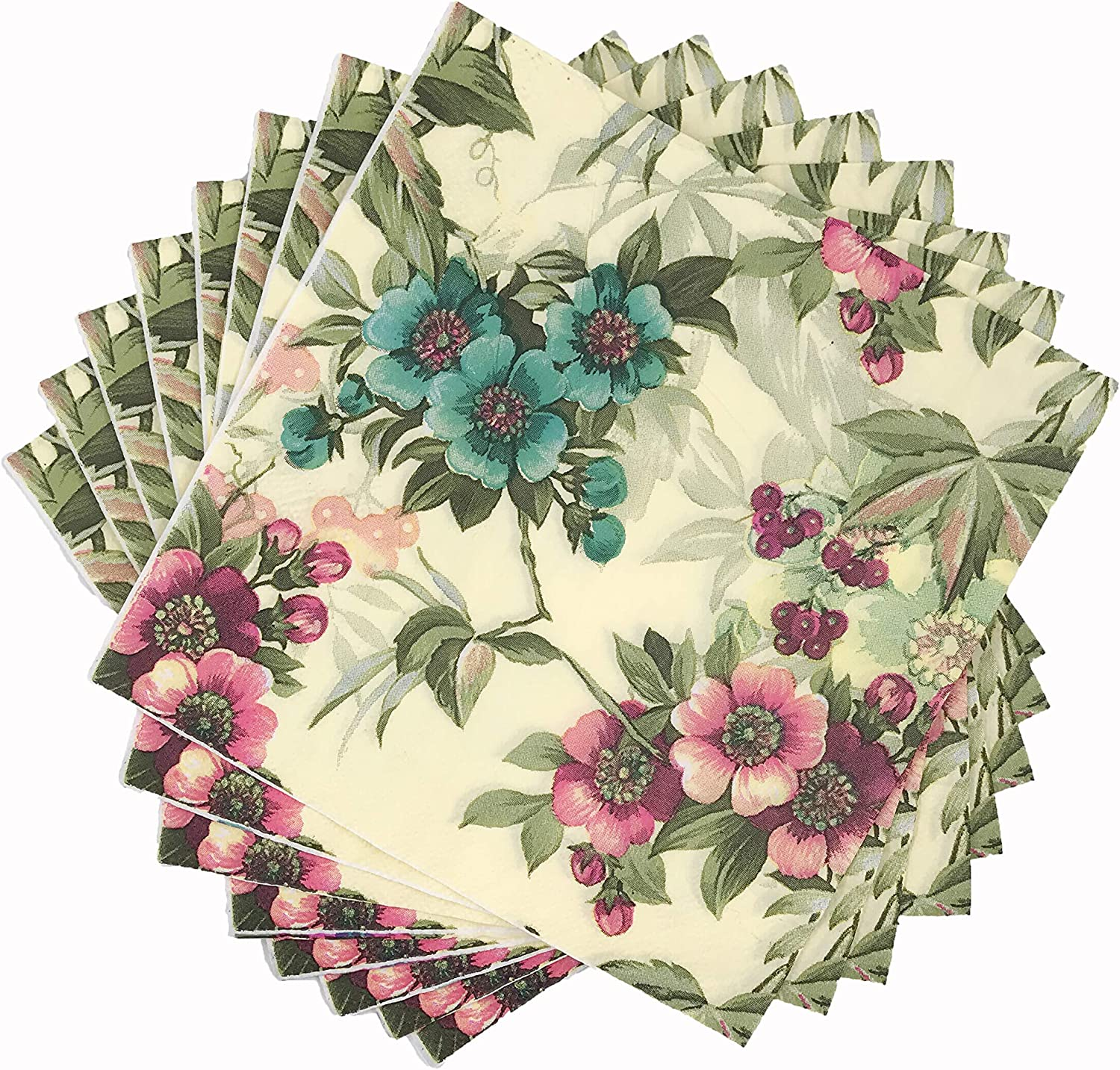 4 Shabby Chic Roses Paper Napkins Serviettes Crafts Supplies Napkins Crafts New