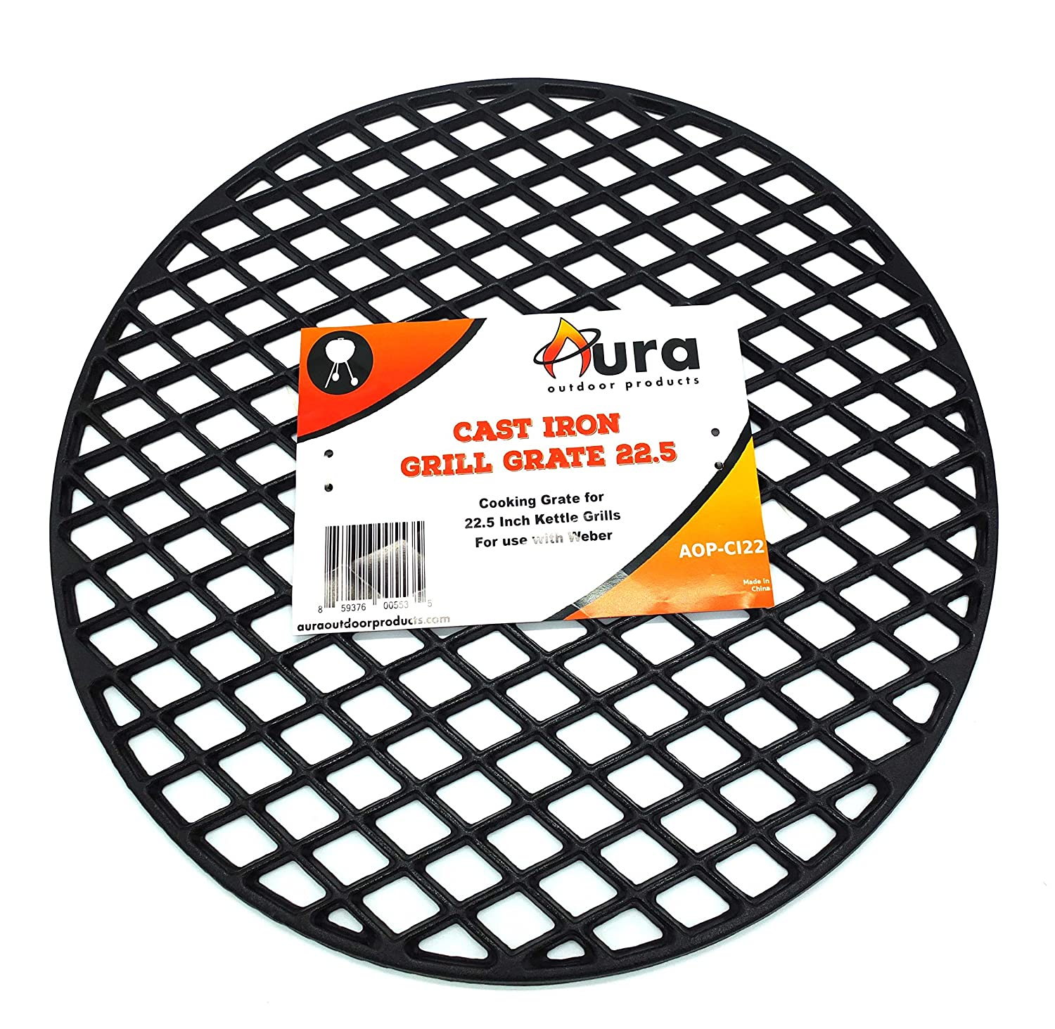 Amazon.com : Aura Outdoor Products Cast Iron Grill Grate for 22 Inch ...