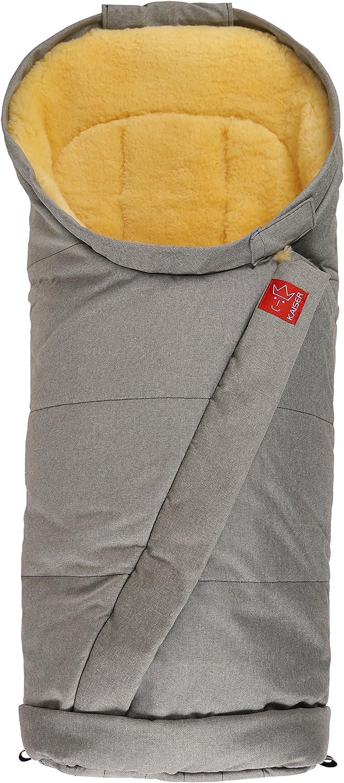 /Saco de abrigo multifunci/ón gris melange, 6721670 dise/ño con piel de cordero. Kaiser Coosy/