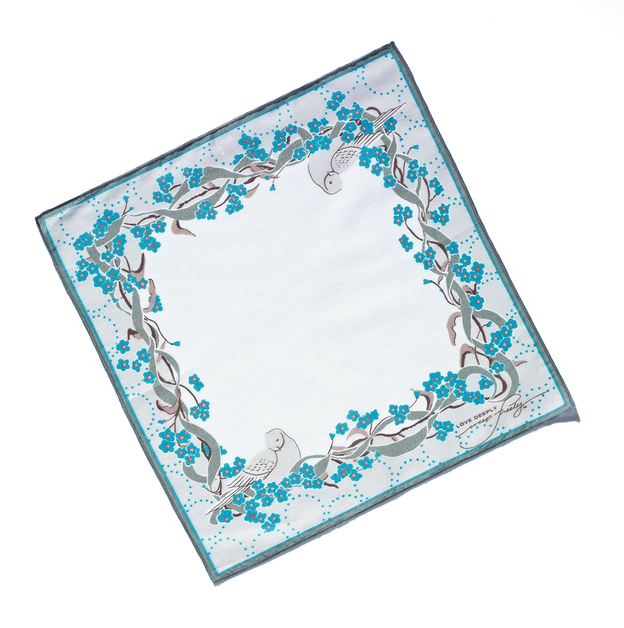 Premium REMEMBRANCE gift handkerchief and card by LOVE DEEPLY~weep freely Handkerchiefs