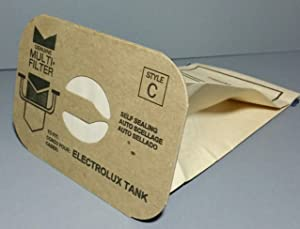 24 Aerus Electrolux Canister Style C Vacuum Cleaner Bags, Made In USA.