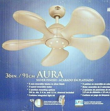 Harbor breeze aura ceiling fan silver finish 36 in 91 cm harbor breeze aura ceiling fan silver finish 36 in 91 cm publicscrutiny Images