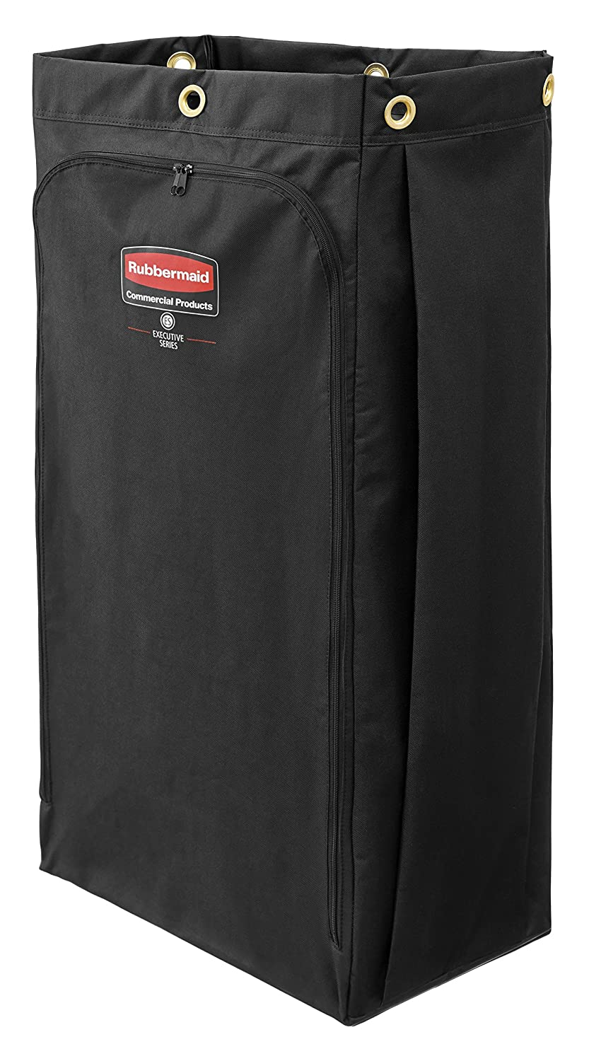Rubbermaid Commercial Executive Series High Capacity Cleaning Cart Bag, 30 Gallon, Black, 1966888