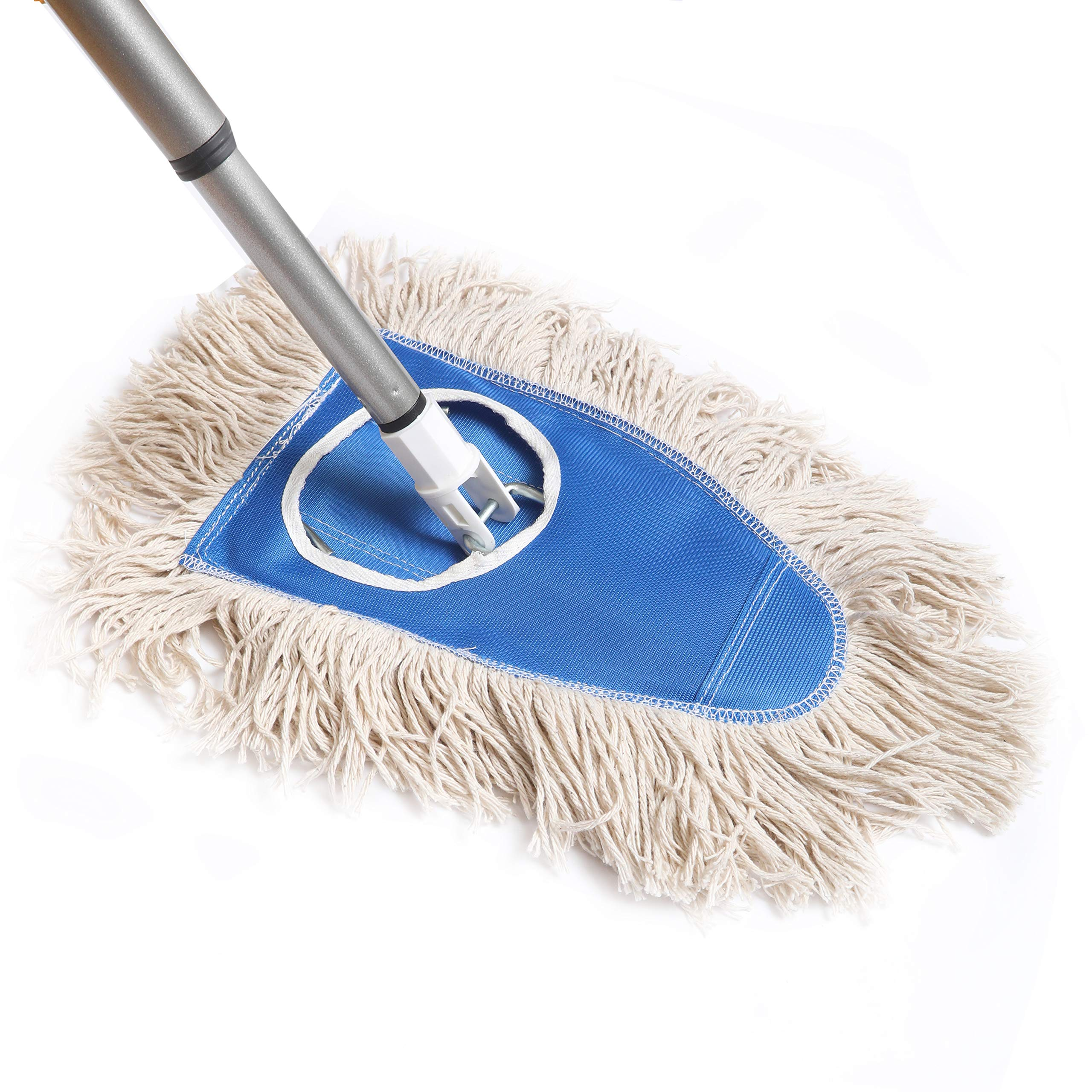 Fuller Brush Dry Mop Head with Frame & Adjustable Telescopic Handle (Dry Mop Complete)