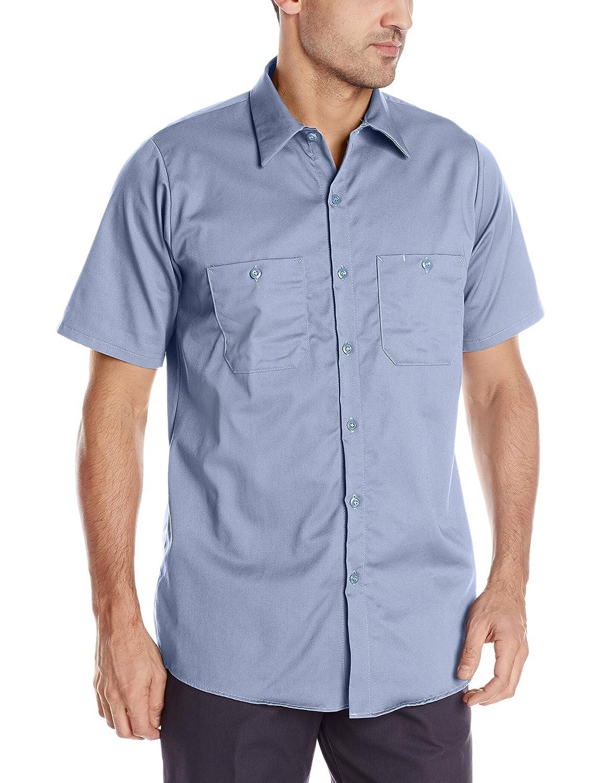 Red Kap Men 's Enhanced Visibility Cotton Workシャツ B007GC0S7U Short Sleeve 4X-Large|ライトブルー ライトブルー Short Sleeve 4X-Large