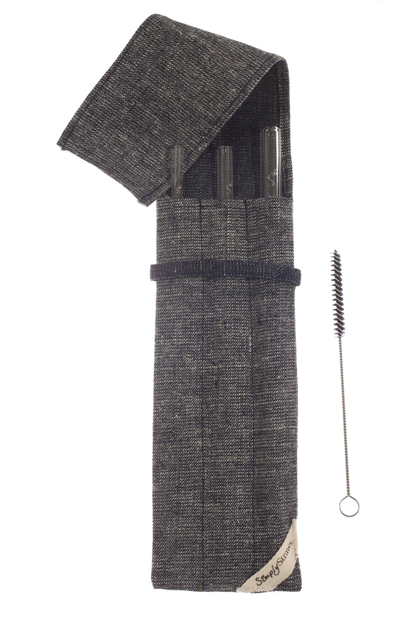 Simply Straws 3-Straw Reverse Denim Sleeve Set