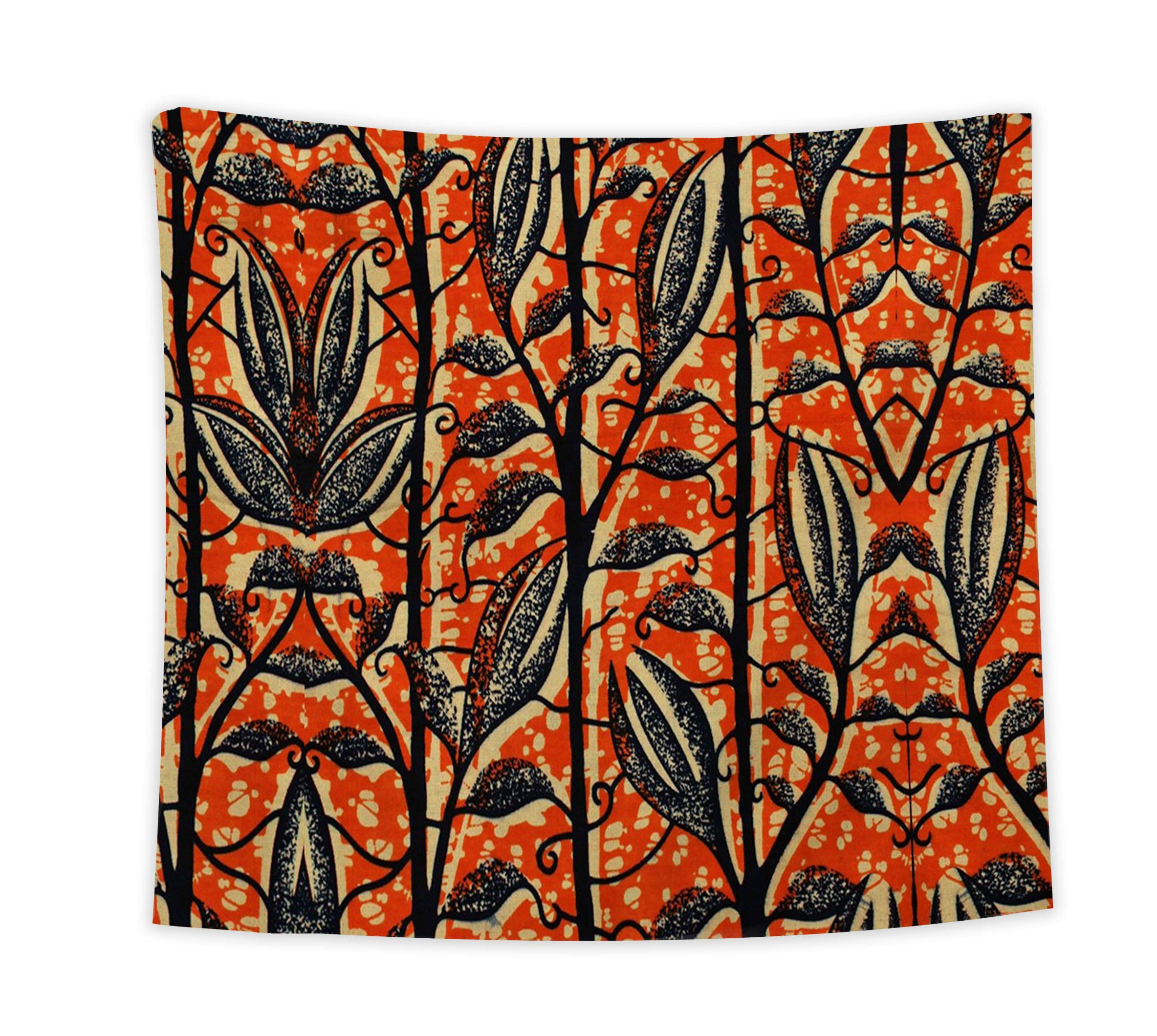 LEO BON Retro Style Leaf Pattern Wall Art Tapestries,Tapestry for Bedroom Dorm Decor Wall Hanging Throw 59x90inch
