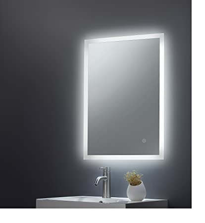 700x 500 mm Illuminated LED Bathroom Horizontal Mirror Backlit Light with Touch