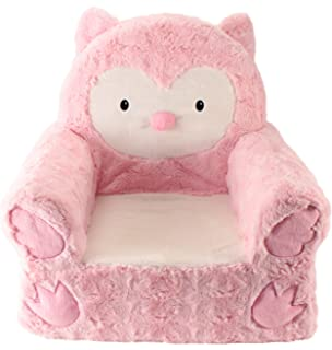 High Quality Sweet Seats Adorable Pink Owl Childrenu0027s Chair Ideal For Children Ages 2  And Up, Machine
