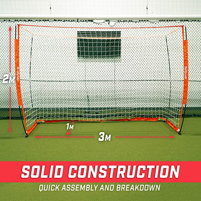 ca9f9bfac Amazon.com : GoSports Elite Futsal Soccer Goal | Regulation 3M x 2M Size  for Indoor or Outdoor Use | Foldable Bow Frame Sets Up in Minutes | Play &  Train ...