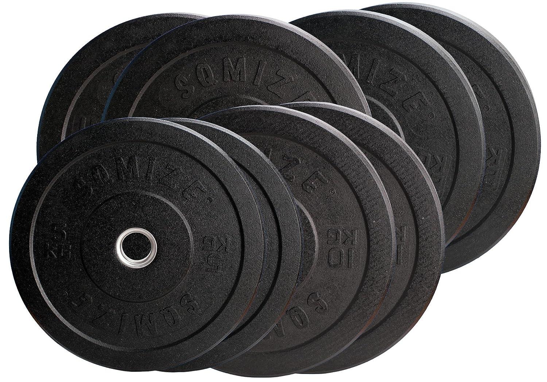 SQMIZE Profi Crump (High-TempeROT) Bumper Plate Set CRBP100 Training - 100 kg
