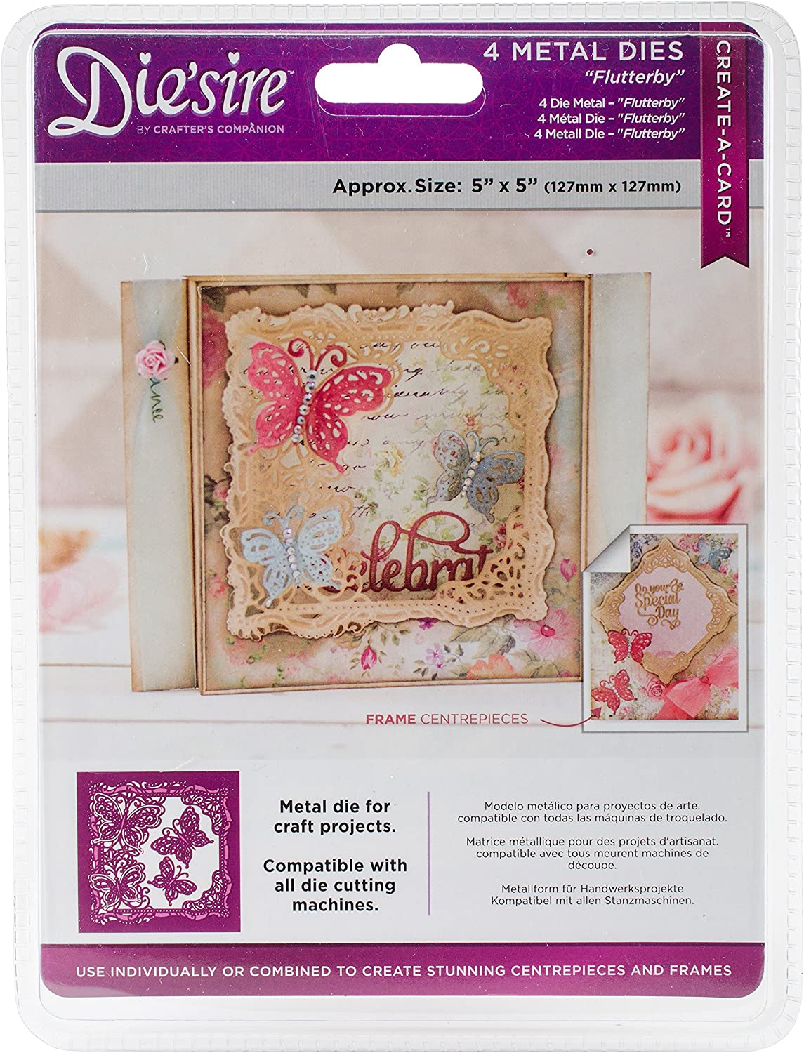 6.5 by 3.5-Inch Dragonfly Tilda Magnolia Chasing Butterflies Cling Stamp