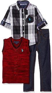 U.S. Polo Assn. Boys Sport Shirt, Vest and Pant Set Pants Set