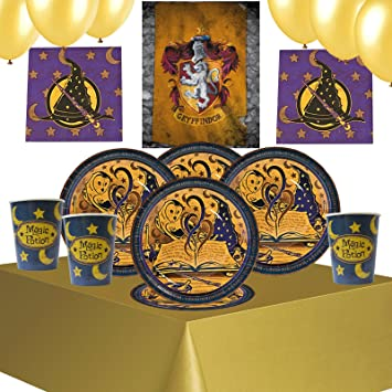 Wizard Party Kit 5GS For 8 to 16 GuestsHarry Potter PosterParty Tableware