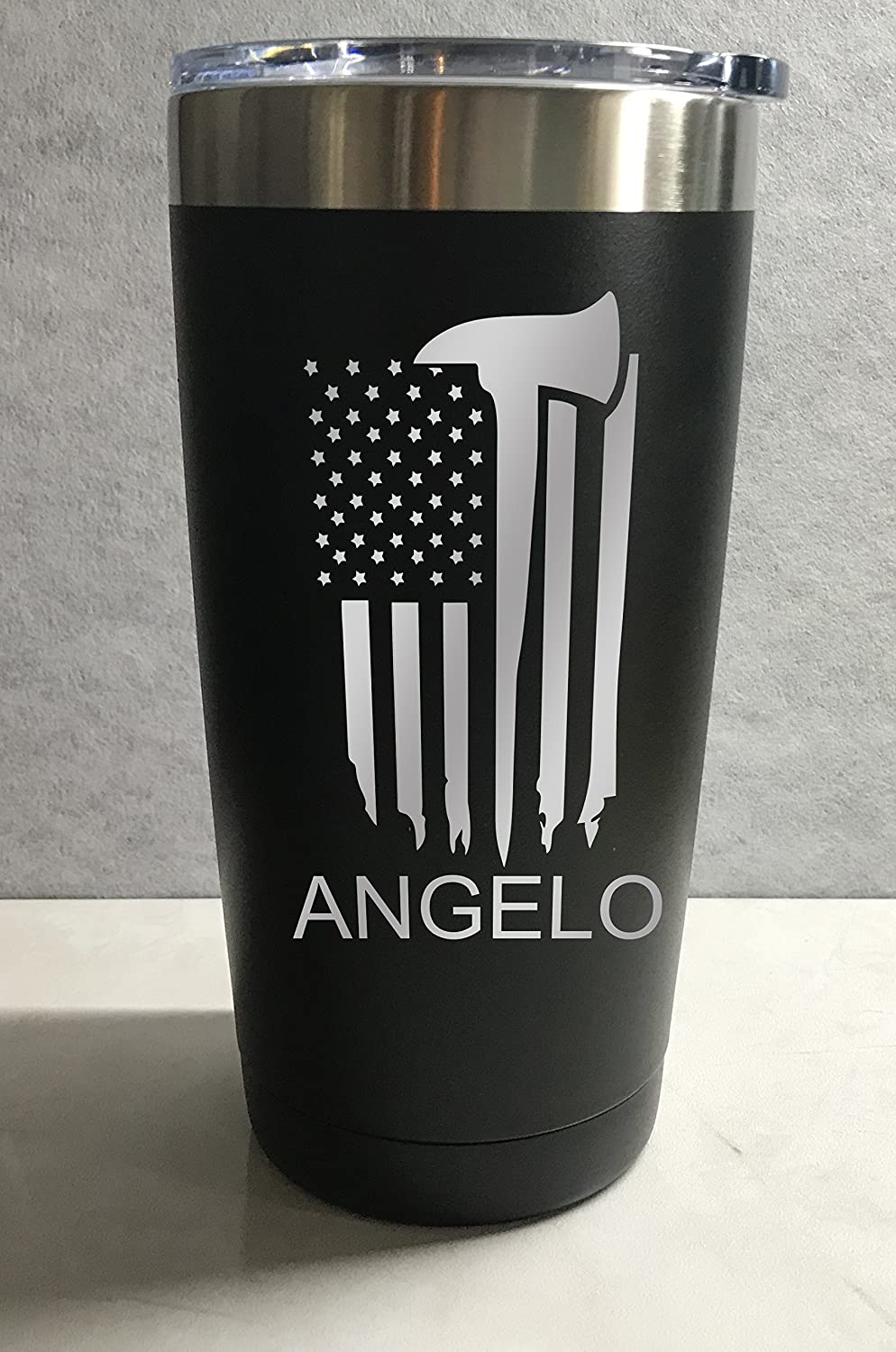 Firefighter Urban Design Personalized Engraved Insulated Stainless Steel 20 oz Tumbler