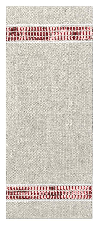 Vallila Hetta Teppichläufer, Baumwolle, Rot, 80 x 200 cm