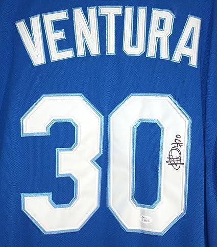 9860a108601 Yordano Ventura Kansas City Royals Signed Autographed Blue  30 Jersey JSA  COA