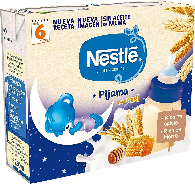 Nestlé - Leche y Cereales con Miel - Paquete de 2 x 250 ml - Total: 500 ml - , Pack de 6