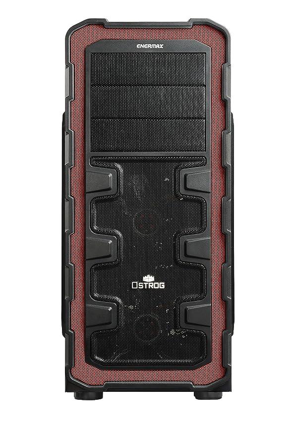 Enermax Ostrog GT ATX Mid Torre de Ordenador con acrílico See-Thru Panel Lateral eca3280 a-BR Negro/Rojo Negro/Rojo Ostrog GT: Amazon.es: Informática