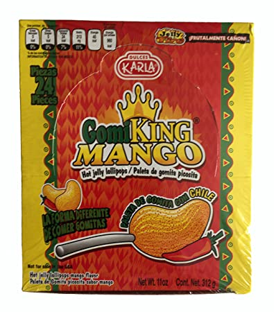 4a7c8c2a8652 Amazon.com : GOMI KING Paleta de Gomita Picosita sabor Mango312 gr ...