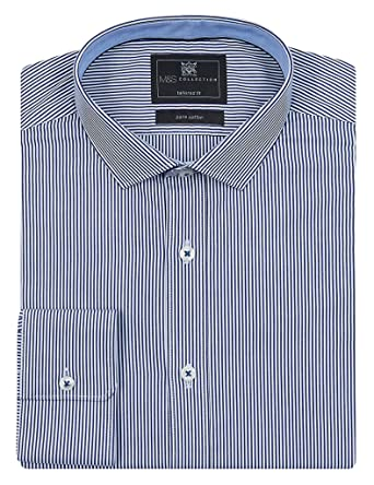 Marks and Spencer Pure Cotton Striped Oxford Shirt multi