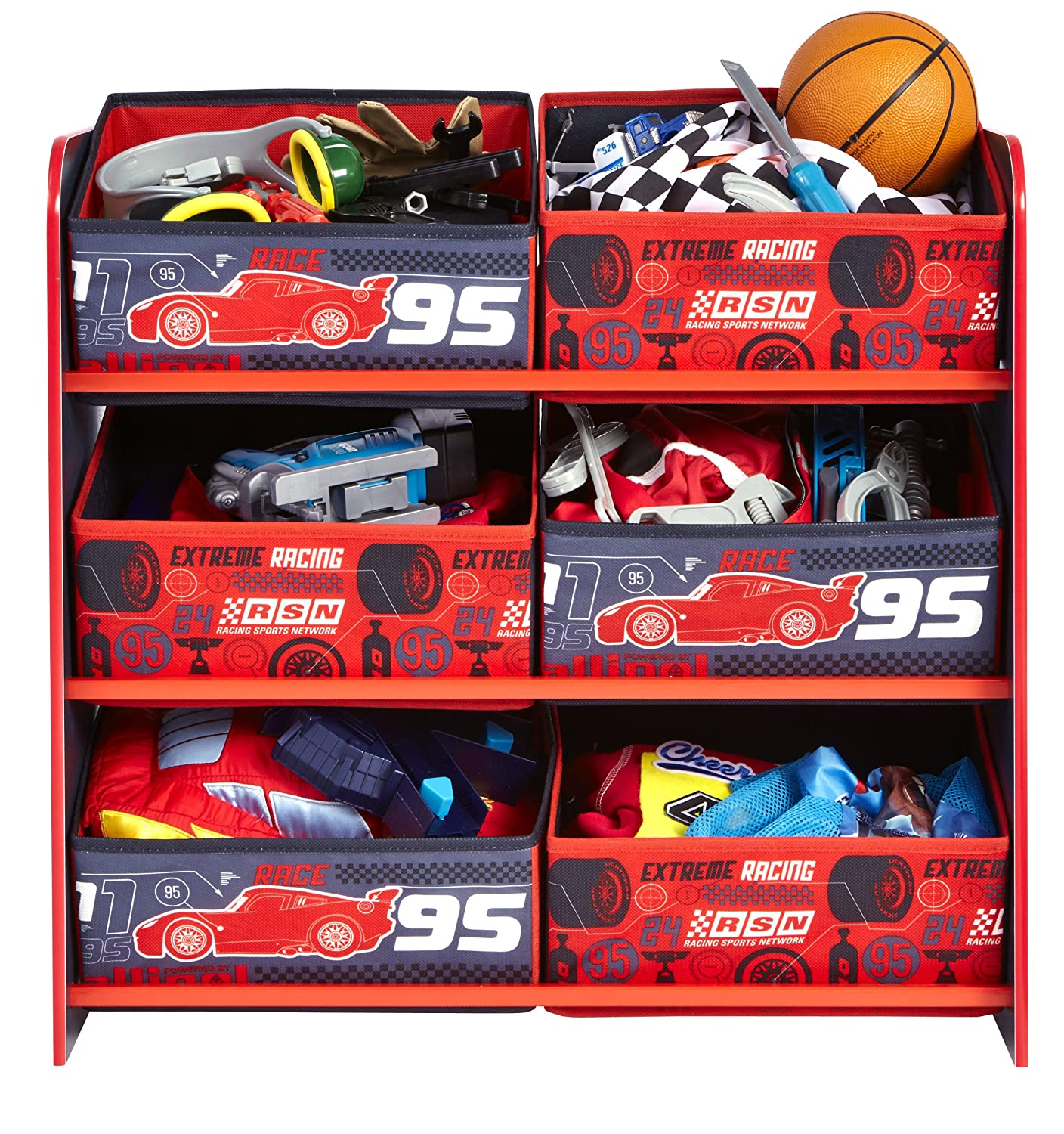 Disney Cars Kids Bedroom Storage Unit with 6 Bins by HelloHome