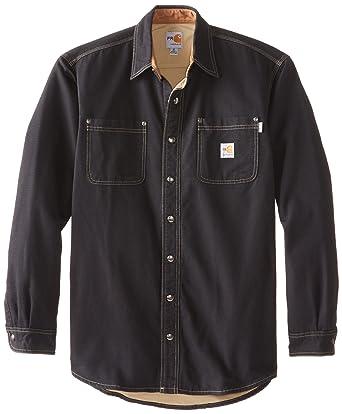 34f62381f52 Amazon.com  Carhartt Men s Big   Tall Flame Resistant Canvas Shirt Jacket   Clothing