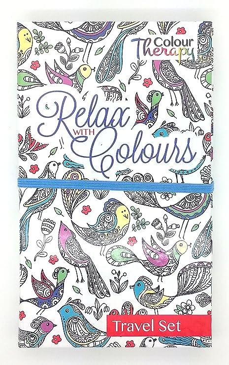 Set de libro de viaje para colorear y 12 lápices, para adulto ...