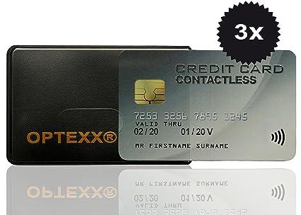OPTEXX w3032013 RFID – Fundas 3 x Felix para tarjeta de crédito