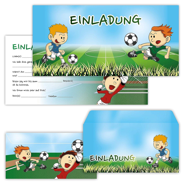 Basteln Malen Nahen Geburtstags Einladungen Zur Fussball