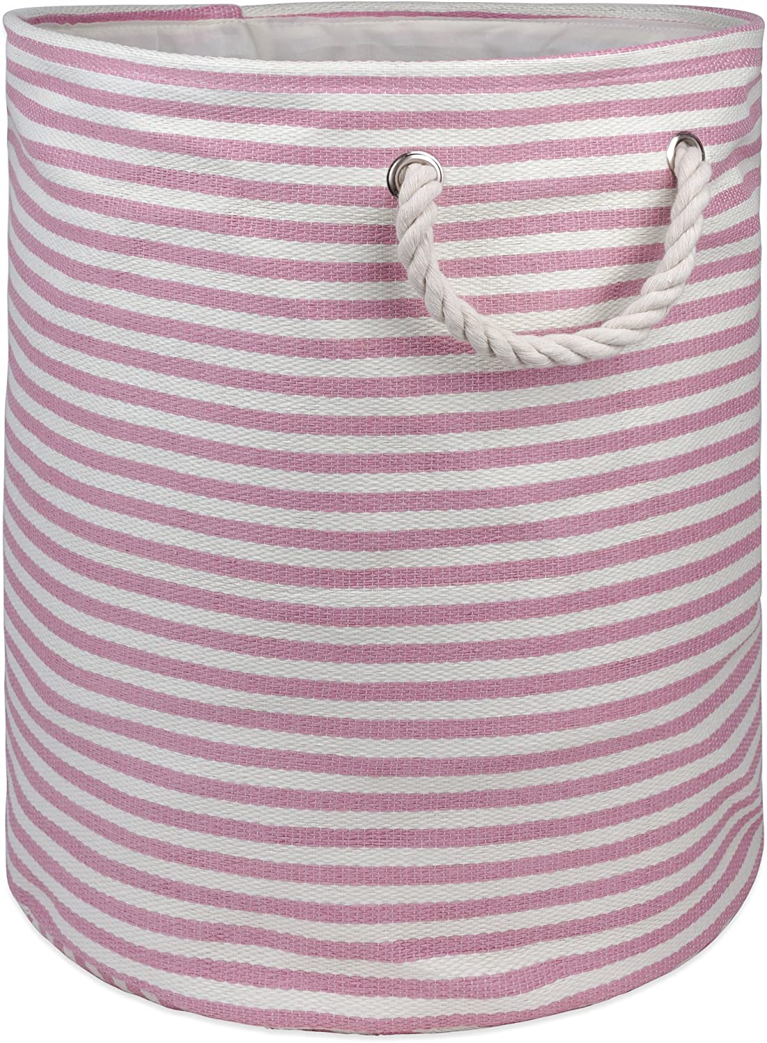 """DII, Woven Paper Storage Bin, Collapsible, 20x15"""", Rose"""