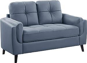 Lexicon Harrisburg Living Room Loveseat, Blue