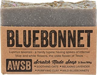 product image for Bluebonnet All Natural, Vegan, Organic Bar Soap with Lavender, Handmade by A Wild Soap Bar