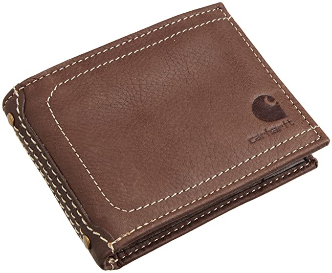 Carhartt 61-2201 - Cartera (piel), diseño con logo, marrón, 61-2201-20-Brown-One Size: Amazon.es: Industria, empresas y ciencia