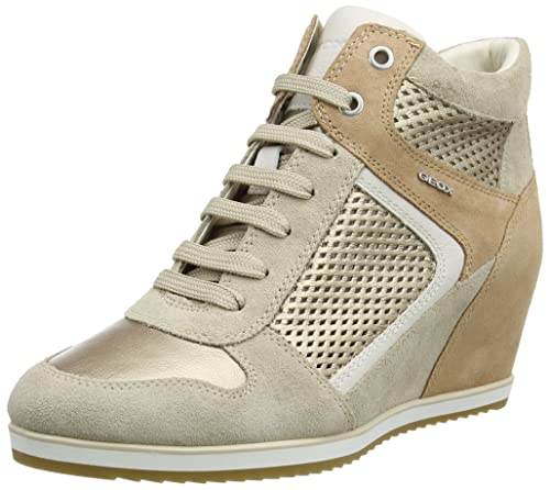 c44dd9249c0 Geox Women's D Illusion B Hi-Top Sneakers: Amazon.co.uk: Shoes & Bags