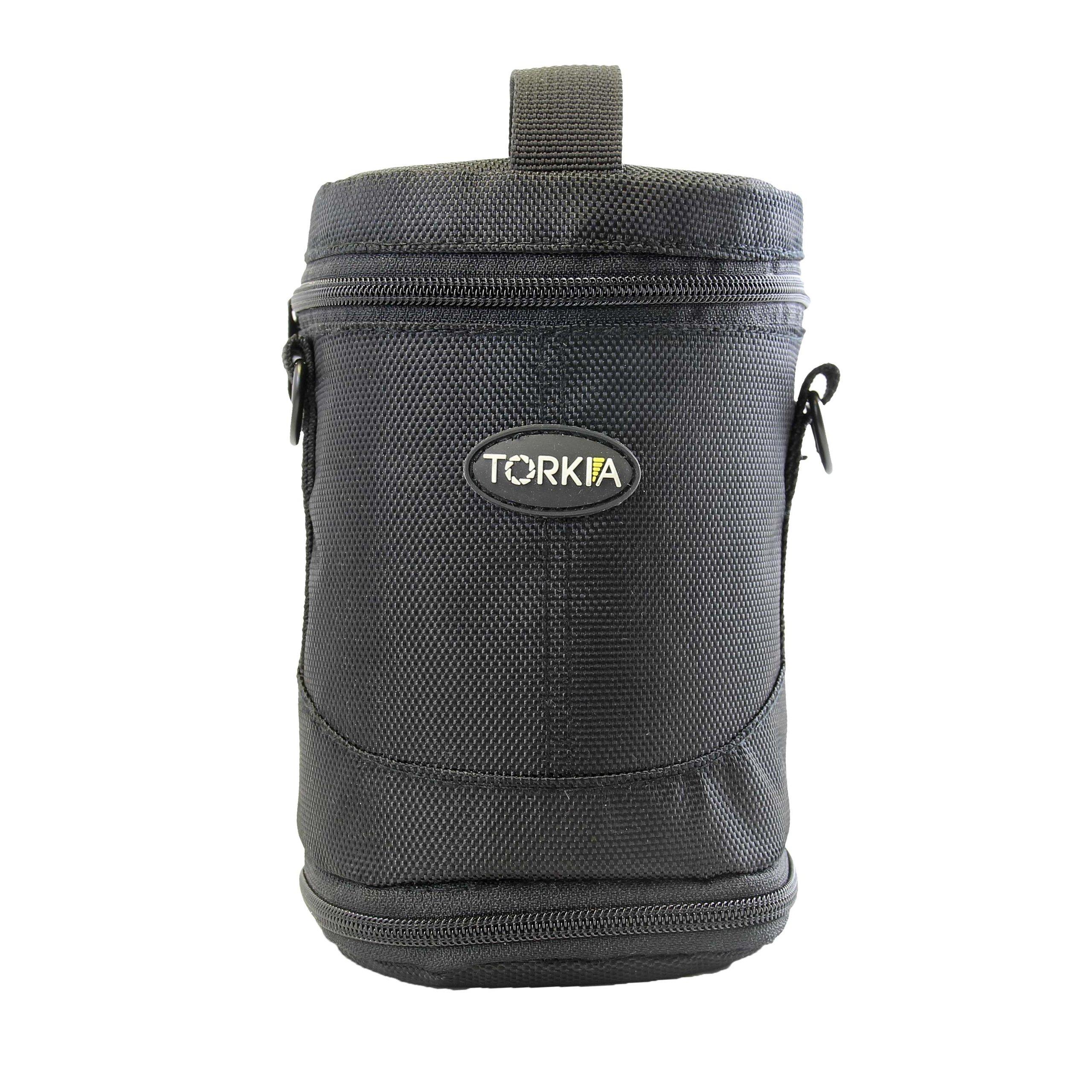 Torkia Padded Lens Case for Nikon 70-300, Nikon 18-200, Nikon 55-300, Nikon 55-200 Lenses by Torkia