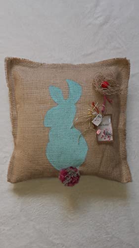 Cojin decorativo fabricado en tela de saco. Arpillera, Hogar ...
