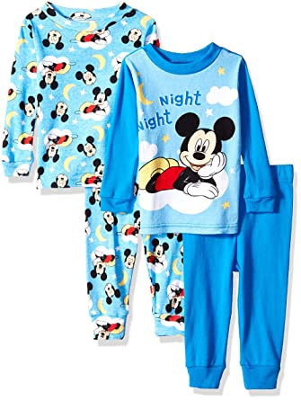 232edd03dc9c Amazon.com  Disney Baby Boys Mickey Mouse 4-Piece Cotton Pajama Set ...