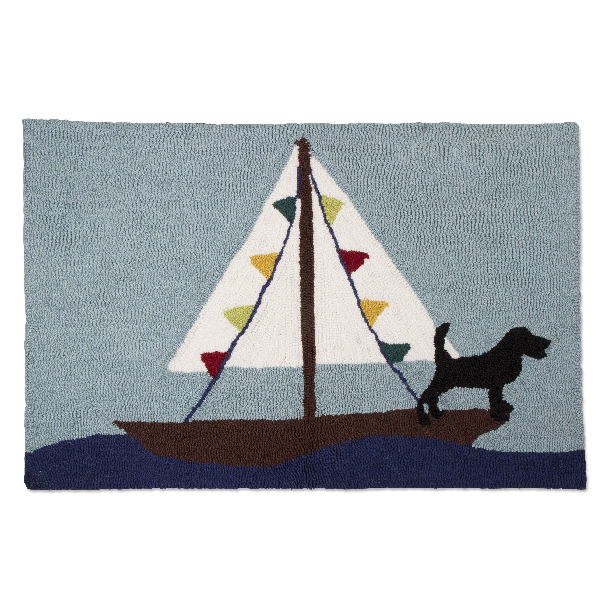 tag - Sailing Polyester Rug, Add Some Style to Your Home, Multi (34'' x 22'')