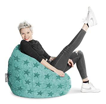 Sitting Point Sitzsack Fluffy Stars Xl Ca 220 Liter Türkis Amazon